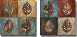 New Leaf Patch by Patricia Pinto 2-pc Premium Gallery-Wrapped Canvas Giclee Art Set (Ready to Hang)