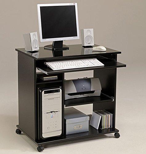 Computertisch schwarz Pepe 2, 76x76x50cm, PC Tisch, Computerschrank, Schreibtisch, foliert jetzt bestellen