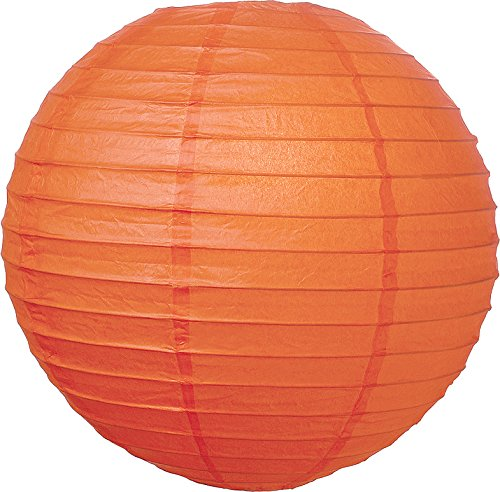 Luna Bazaar Mango Orange 12 Inch Round Paper Lanterns back-158279
