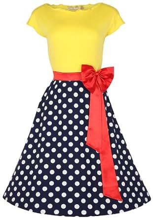 Lindy Bop 'Yvette' 1950's Robe Parisian, Fifties Pinup (54, Multi)
