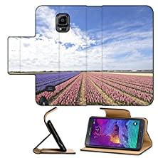 buy Luxlady Premium Samsung Galaxy Note 4 Flip Pu Leather Wallet Case Colorful Hyacinth Fields In Rural Netherlands Image Id 25953502