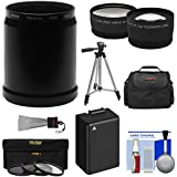 Panasonic Lumix DMC-FZ70 Digital Camera Essentials Bundle with Adapter Tube + 2.5x Tele & .45x Wide Lens + 3 Filters + DMW-BLC12 Battery + Case + Tripod Kit