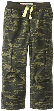 Levi's Baby Boys' Cargo Pull On Pant, Green Digi Camo, 12 Months