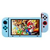 BUBM Soft Silicone Case Anti-slip Protective Cover Seperate bodies Case for Nintendo Switch (Blue)