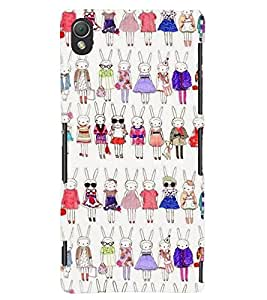 TOUCHNER (TN) Fashion Girl Back Case Cover for Sony Xperia Z3::Sony Xperia Z3 D6653 D6603