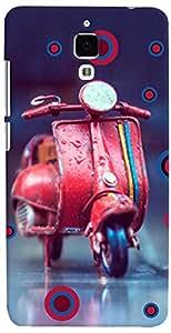 PRINTVISA Scooter Cute Case Cover for Xiaomi Mi4