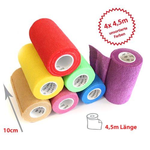 4 x Haftbandage  cohesive Bandage  selbsthaftende Bandage  Sport- Bandage  10 cm  4 5 m