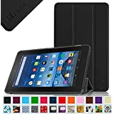"Fintie SlimShell Case for Fire 7 2015 - Ultra Slim Lightweight Standing Cover for Amazon Fire 7 Tablet (will only fit Fire 7"" Display 5th Generation - 2015 release), Black"