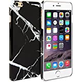 iPhone 6 Case, GMYLE Hard Case Print Crystal for iPhone 6 (4.7 inch Display) - Black Marble Pattern Slim Fit Snap On Protective Hard Shell Back Case