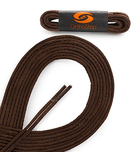 WAXED VERY THIN DRESS ROUND Classic Brown 41 inch Shoelaces 2 Pair Pack