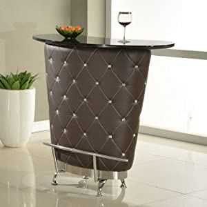 Chintaly imports nolita modern home bar brown bar tables Home bar furniture amazon