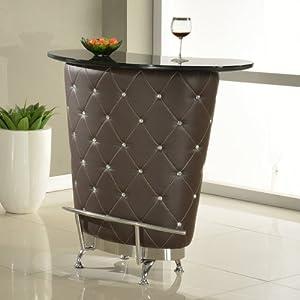 Chintaly Imports Nolita Modern Home Bar Brown Bar Tables