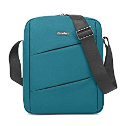 CoolBell Sling Bag CrossBody Shoulder Bag Carrying Case with Accessory Pockets for for 10in Tablets Notebooks and Laptops (Sapphire Blue)