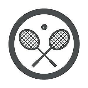 Amazon.com: Wallmonkeys WM242011 Icono Redondo Raquetas De Tenis Gris