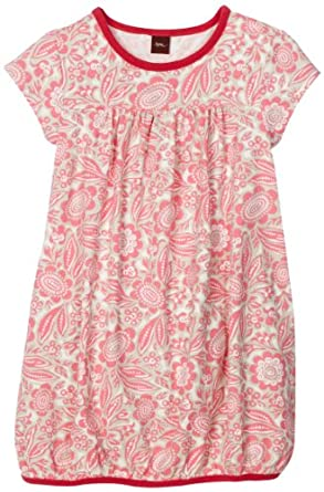 Tea Collection Girls Botanic Garden Playdress, Neon Pink, 12