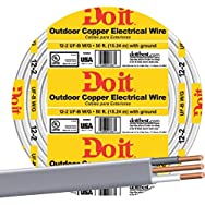 Southwire 13055918 Do it Underground Feeder Cable-50' 12-2 UFW/G WIRE