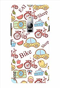 Noise Bike Repeat Printed Cover for OnePlus 2