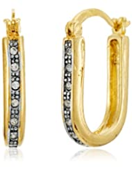 GB Jewellery 18KT Gold Plated Hoop Earrings With White Stones (Cubic Zirconia) For Women(JE20GFE076)