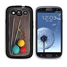 buy Msd Samsung Galaxy S3 Aluminum Plate Bumper Snap Case Knitting Needles And Colorful Ball Of Threads On Wooden Background Image 20870737
