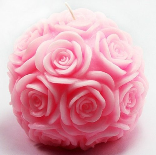 Allforhome Ball Of Rose Candle Diy Mold Silicone Handmade Soap Mold Candle Mould Diy Candle Making Mold back-59181