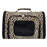 Leopard Dog Cat Soft-Sided Pet Carrier Medium, 16-inch