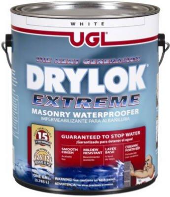 Drylok Extreme Latex Masonry Waterproofer Latex Interior/Exterior Smooth Finish White 1 Gl 15 Yr War image