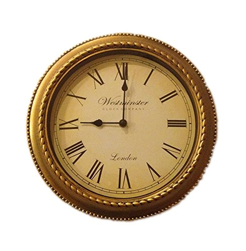 "Decorative Hanging Round Wall Clock Classic 12"" Inch Vintage Plastic Roman Numeral Time Piece"