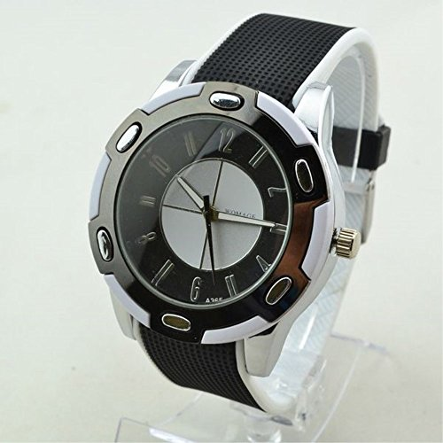 WOMAGE Watch analog casual sport fashion men's women's watch [BOX clock wipe with (white)