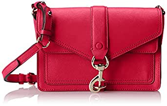 Rebecca Minkoff Hudson Moto Mini Cross-Body Handbag,Fuchsia,One Size