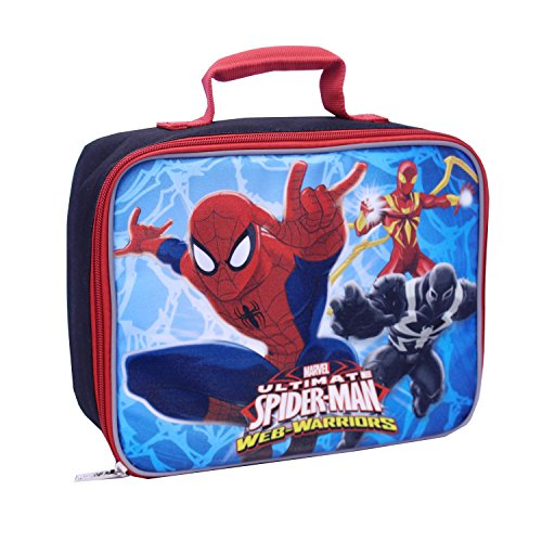 Global Design Concepts Spiderman Lunch Kit, Blue/Black - 1