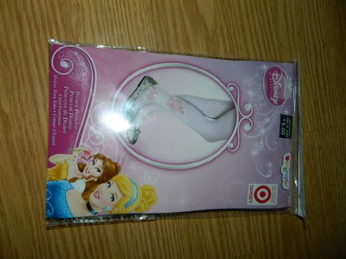 Disney Princess Child's Size Pantyhose Pink Silhouette Princesses & Pink Box - 1