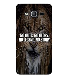 Evaluze LION QUOTES Printed Back Cover for SAMSUNG GALAXY ON5 2015