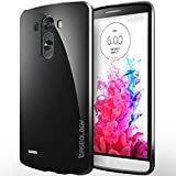 [Drop Protection] Caseology LG G3 [Black] Slim Fit Skin Cover [Shock Absorbent] TPU Bumper Case [Made in Korea] (for Verizon, AT&T Sprint, T-mobile, Unlocked)