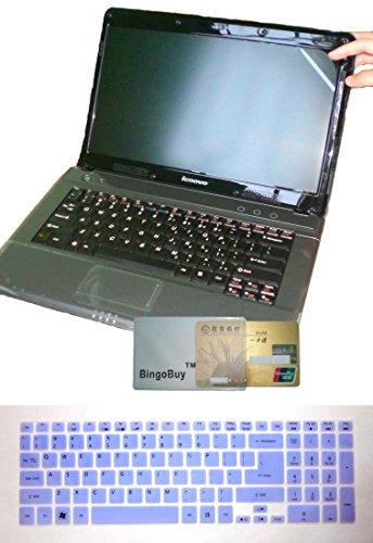 BingoBuy 2-in-1 Ultra Diaphanous Soft US Layout Keyboard Skin Coverlet + 15.6'' anti glare & anti fingerprint & anti scrape Screen Protector (Length: 345mm x compass: 194.5mm) for Acer Aspire E1-510 E1-510P E5-511 E5-511P E5-521 E5-521G E1-522 E1-530 E5-5