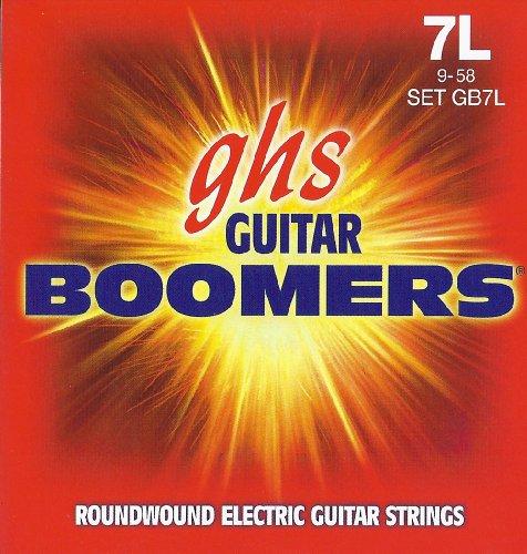 Ghs Strings Electric Guitar Boomer Set (Light Nickel Steel, 7-String)