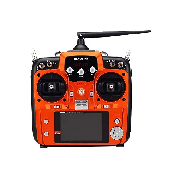 RadioLink-AT10-24Ghz-10CH-10-Channel-Remote-Controller-System-Radio-Transmitter-R10D-Receiver-PRM-01-Voltage-Return-Module-for-DIY-FPV-RC-Helicopter-Quadcopter-Drone-Orange