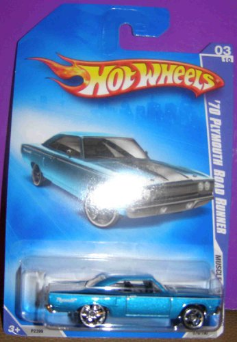 HOT WHEELS 2009 MUSCLE MANIA 079/190 BLUE '70 PLYMOUTH ROAD RUNNER 03 OF 10