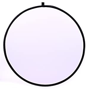 43/110cm 5-in-1 Light Reflector for Photography Collapsible Multi-Disc Round with Bag - Translucent, Gold, Silver, Black and White (Color: Round, Tamaño: 43inch/110cm)