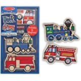 Melissa & Doug Create-A-Craft Wooden Vehicles Magnets (2 pieces)