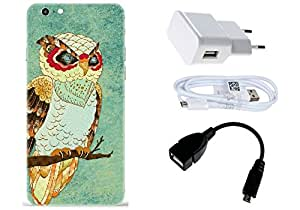 Spygen Apple iphone 6 Plus/6S Plus Case Combo of Premium Quality Designer Printed 3D Lightweight Slim Matte Finish Hard Case Back Cover + Charger Adapter + High Speed Data Cable + Premium Quality OTG