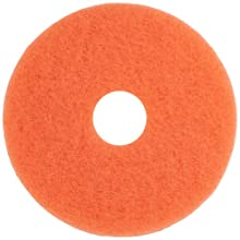 "Glit 20515 TK Polyester Blend Peach Floor Pad, Synthetic Blend Resin, Talc Grit, 15"" Diameter, 175 to 1500 rpm (Case of 5)"