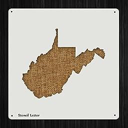 West Virginia State Style 1126 , DIY Plastic Stencil Acrylic Mylar Reusable