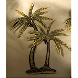 coco palm tree metal wall decor. Black Bedroom Furniture Sets. Home Design Ideas