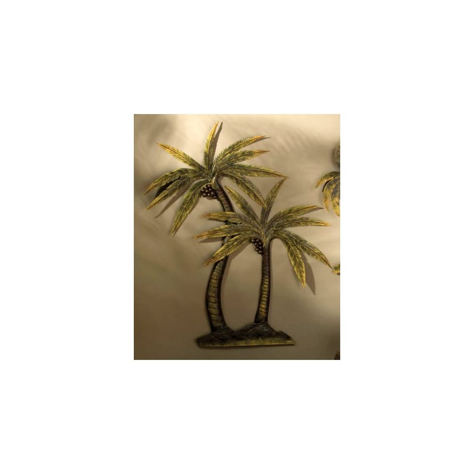 Coco Palm Tree Metal Wall Decor