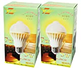 ZY LED電球 人感センサー付きLEDライト 自動点灯/消灯 E26口金消費電力7W 60W相当省エネ電球 室内用 人の動きを感知し ledランプ e26 電球led【2年保証期間】 (電球色2個セット)