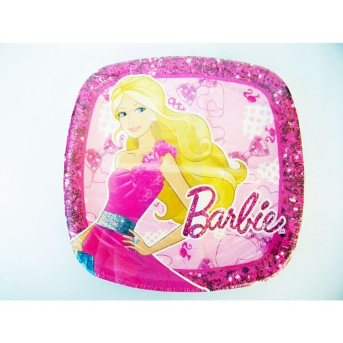 Barbie 'High Fashion' Large Paper Pocket Plates (8ct) - 1