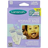 Lansinoh Breastmilk Storage Bags, 25-Count Boxes (Pack of 3) ~ Lansinoh