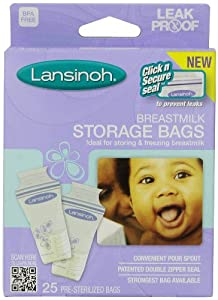 Lansinoh Breastmilk Storage Bags, 25-Count Boxes (Pack of 3)
