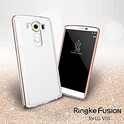 LG V10 Case - Ringke FUSION ** Shock Absorption TPU Bumper Drop Protection **[FREE HD Screen Protector] Premium Crystal Clear Hard Back [Anti-Static][Scratch Resistant] for LG V10 from Ringke