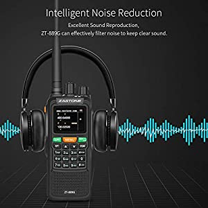 Zastone 889G Walkie Talkies 2 Pack Dual Band Two Way Radio Long